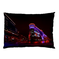 Moscow Night Lights Evening City Pillow Case (two Sides)