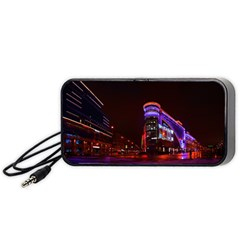 Moscow Night Lights Evening City Portable Speaker (black) by Nexatart