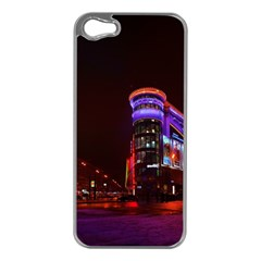 Moscow Night Lights Evening City Apple Iphone 5 Case (silver)