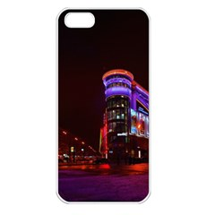 Moscow Night Lights Evening City Apple Iphone 5 Seamless Case (white)