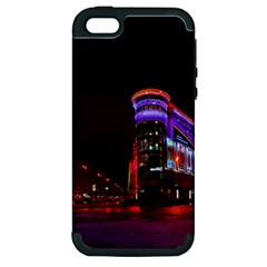 Moscow Night Lights Evening City Apple Iphone 5 Hardshell Case (pc+silicone)