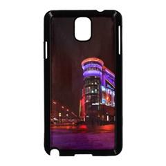 Moscow Night Lights Evening City Samsung Galaxy Note 3 Neo Hardshell Case (black)