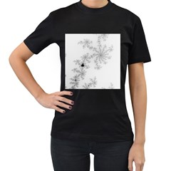 Mandelbrot Apple Males Mathematics Women s T Shirt (black) (two Sided)