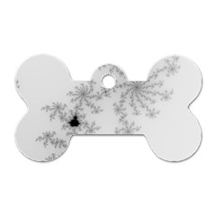 Mandelbrot Apple Males Mathematics Dog Tag Bone (two Sides) by Nexatart