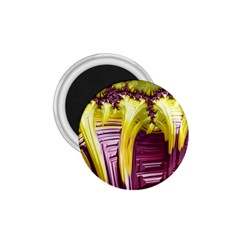 Yellow Magenta Abstract Fractal 1 75  Magnets by Nexatart