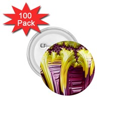 Yellow Magenta Abstract Fractal 1 75  Buttons (100 Pack)