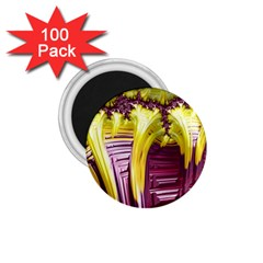Yellow Magenta Abstract Fractal 1 75  Magnets (100 Pack)  by Nexatart