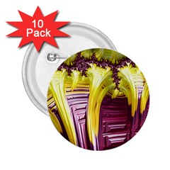 Yellow Magenta Abstract Fractal 2 25  Buttons (10 Pack)