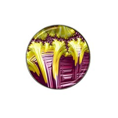 Yellow Magenta Abstract Fractal Hat Clip Ball Marker (4 Pack) by Nexatart