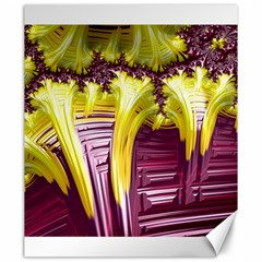 Yellow Magenta Abstract Fractal Canvas 20  X 24