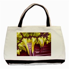 Yellow Magenta Abstract Fractal Basic Tote Bag (two Sides)