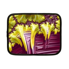 Yellow Magenta Abstract Fractal Netbook Case (small)  by Nexatart