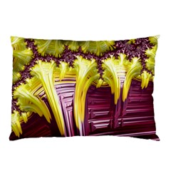 Yellow Magenta Abstract Fractal Pillow Case