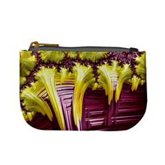 Yellow Magenta Abstract Fractal Mini Coin Purses by Nexatart