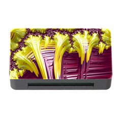 Yellow Magenta Abstract Fractal Memory Card Reader With Cf by Nexatart