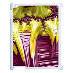 Yellow Magenta Abstract Fractal Apple Ipad 2 Case (white)