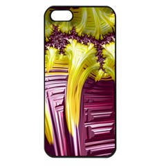Yellow Magenta Abstract Fractal Apple Iphone 5 Seamless Case (black) by Nexatart