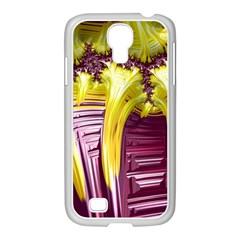 Yellow Magenta Abstract Fractal Samsung Galaxy S4 I9500/ I9505 Case (white)