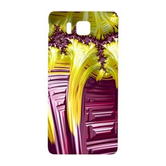 Yellow Magenta Abstract Fractal Samsung Galaxy Alpha Hardshell Back Case by Nexatart
