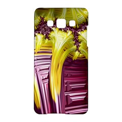 Yellow Magenta Abstract Fractal Samsung Galaxy A5 Hardshell Case