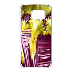 Yellow Magenta Abstract Fractal Samsung Galaxy S7 White Seamless Case by Nexatart