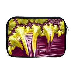 Yellow Magenta Abstract Fractal Apple Macbook Pro 17  Zipper Case by Nexatart