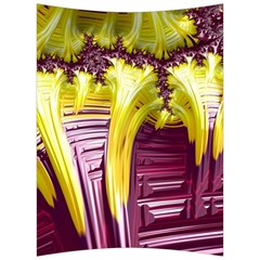 Yellow Magenta Abstract Fractal Back Support Cushion