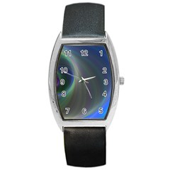 Gloom Background Abstract Dim Barrel Style Metal Watch