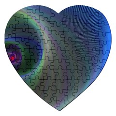 Gloom Background Abstract Dim Jigsaw Puzzle (heart)