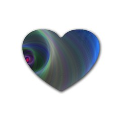 Gloom Background Abstract Dim Rubber Coaster (heart)  by Nexatart