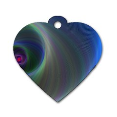 Gloom Background Abstract Dim Dog Tag Heart (one Side)