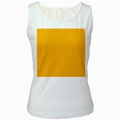 Texture Background Pattern Women s White Tank Top