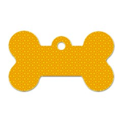 Texture Background Pattern Dog Tag Bone (one Side)