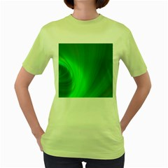 Green Background Abstract Color Women s Green T Shirt