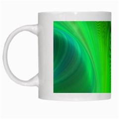 Green Background Abstract Color White Mugs