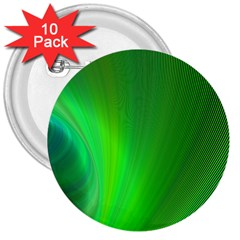 Green Background Abstract Color 3  Buttons (10 Pack)
