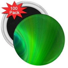 Green Background Abstract Color 3  Magnets (100 Pack)