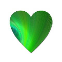 Green Background Abstract Color Heart Magnet by Nexatart