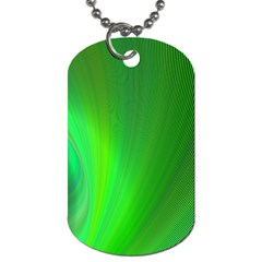 Green Background Abstract Color Dog Tag (one Side)