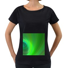 Green Background Abstract Color Women s Loose Fit T Shirt (black)