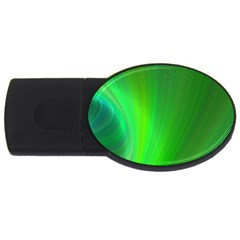 Green Background Abstract Color Usb Flash Drive Oval (4 Gb)