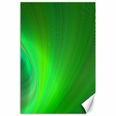 Green Background Abstract Color Canvas 24  X 36
