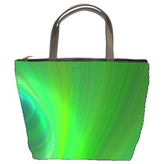 Green Background Abstract Color Bucket Bags