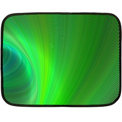 Green Background Abstract Color Fleece Blanket (mini)