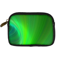 Green Background Abstract Color Digital Camera Cases