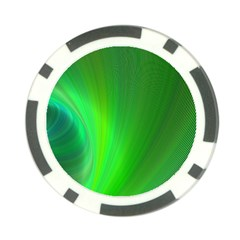 Green Background Abstract Color Poker Chip Card Guard (10 Pack)