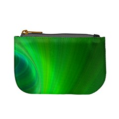 Green Background Abstract Color Mini Coin Purses