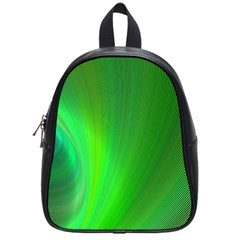Green Background Abstract Color School Bag (small)