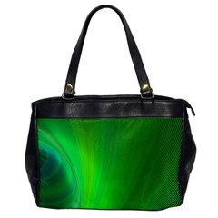 Green Background Abstract Color Office Handbags by Nexatart