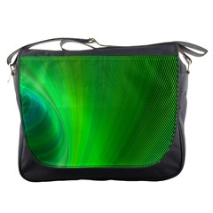 Green Background Abstract Color Messenger Bags